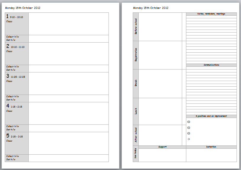 Printable Teacher Planner Template Search Results New