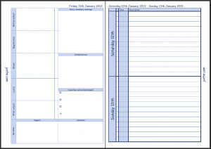 The second part of Friday's Teacher Planner page and the weekend pages which are still in Enhanced Time Management format but are just for the weekend!
