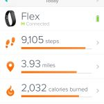 This was about a week into getting my Fitbit Flex.